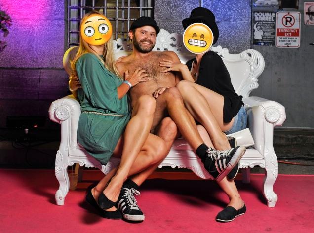 Jade Sambrook nude in the Cirque du Bizarre photo booth