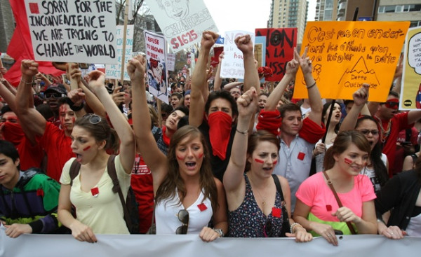 Student Protest Montreal Maple Spring