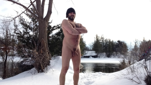 Jade Sambrook naked in the winter snow